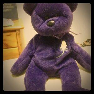 1997 purple princess Diana Beanie Baby bear